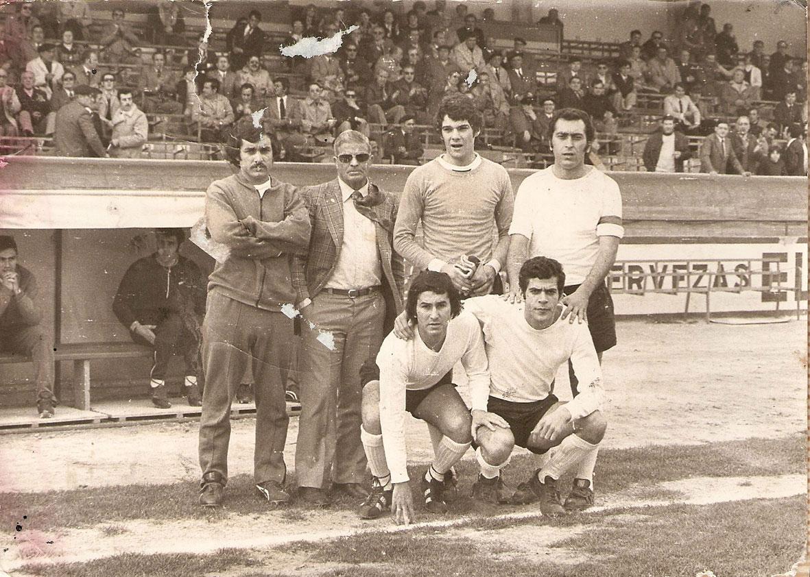De pie: Chicho, Rosendo Hernandez, Pérez, Santos. Agachados: Nato y Cordón. Año 1973.